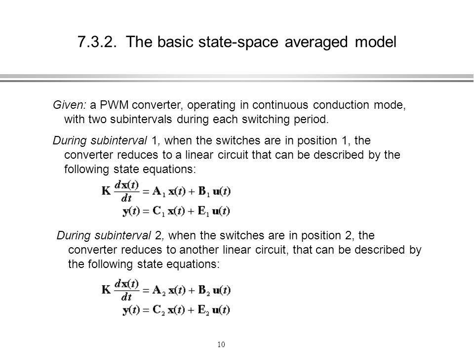 The basic state-space averaged model
