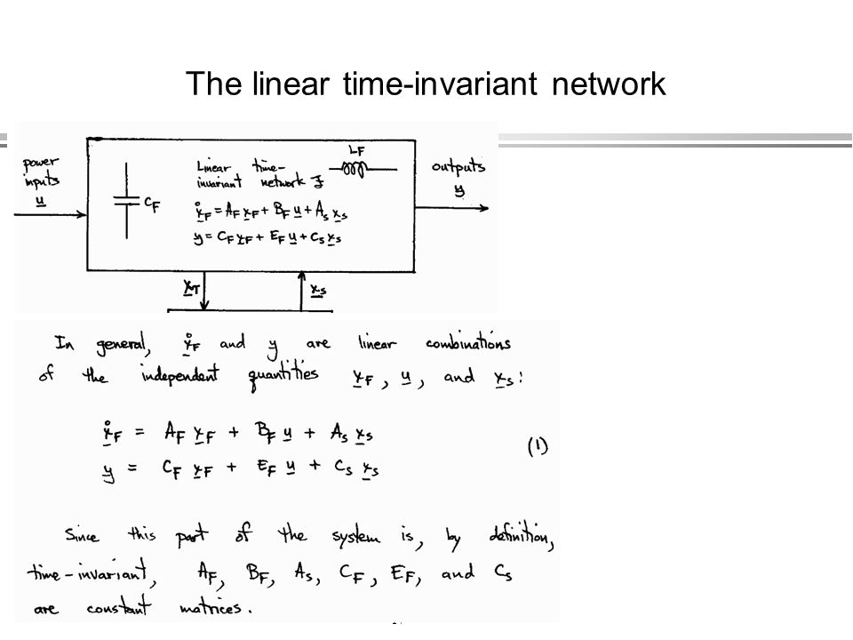 The linear time-invariant network