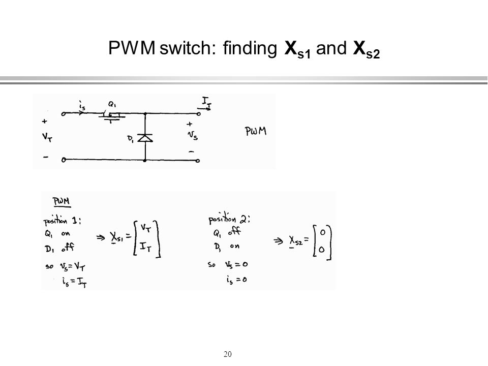PWM switch: finding Xs1 and Xs2