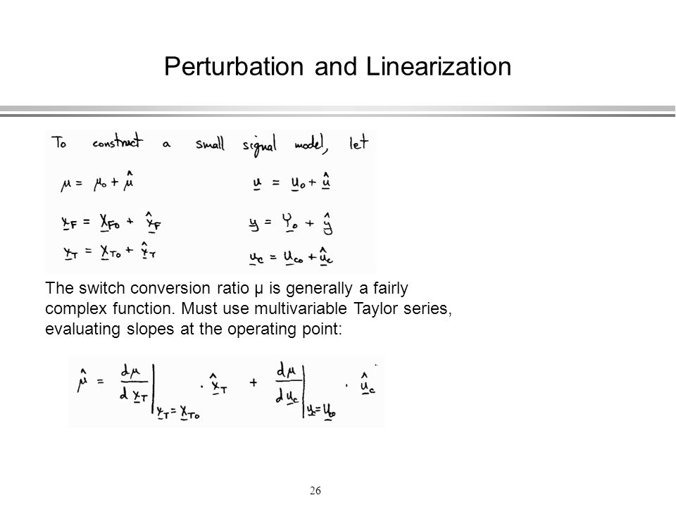 Perturbation and Linearization