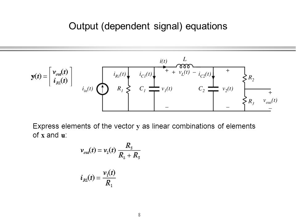Output (dependent signal) equations