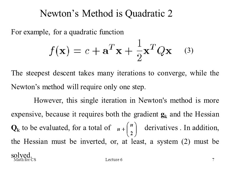 Newton's Method is Quadratic 2