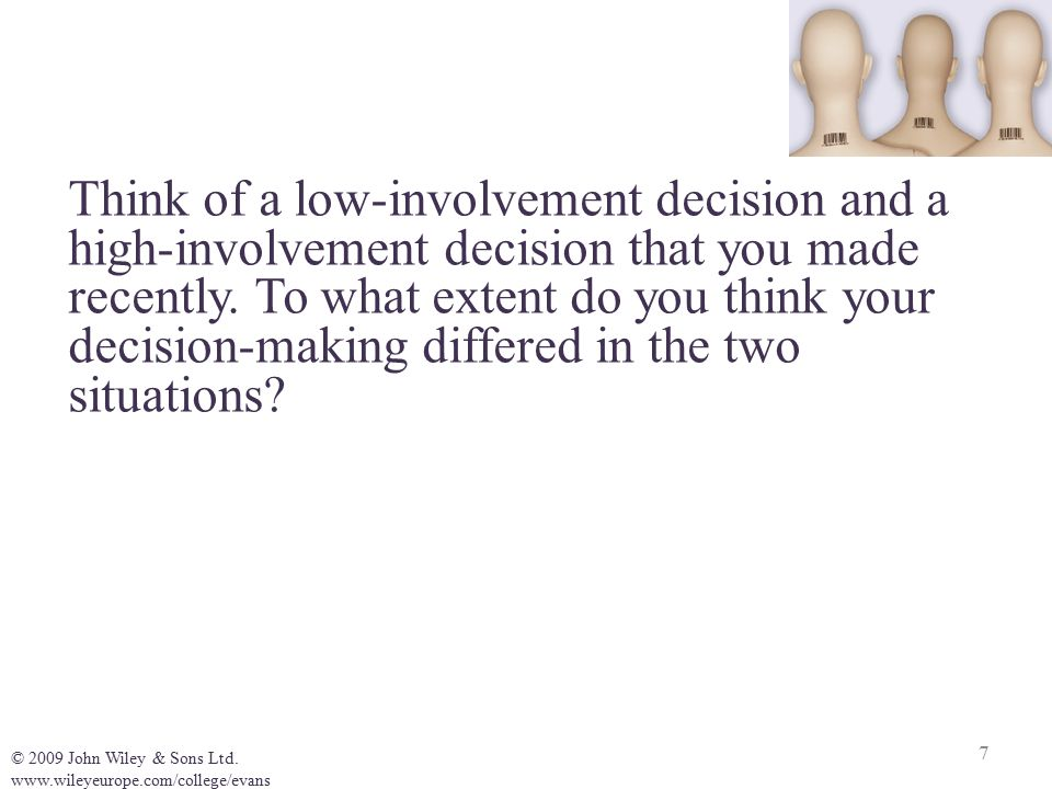 consumer involvement and decision making pdf