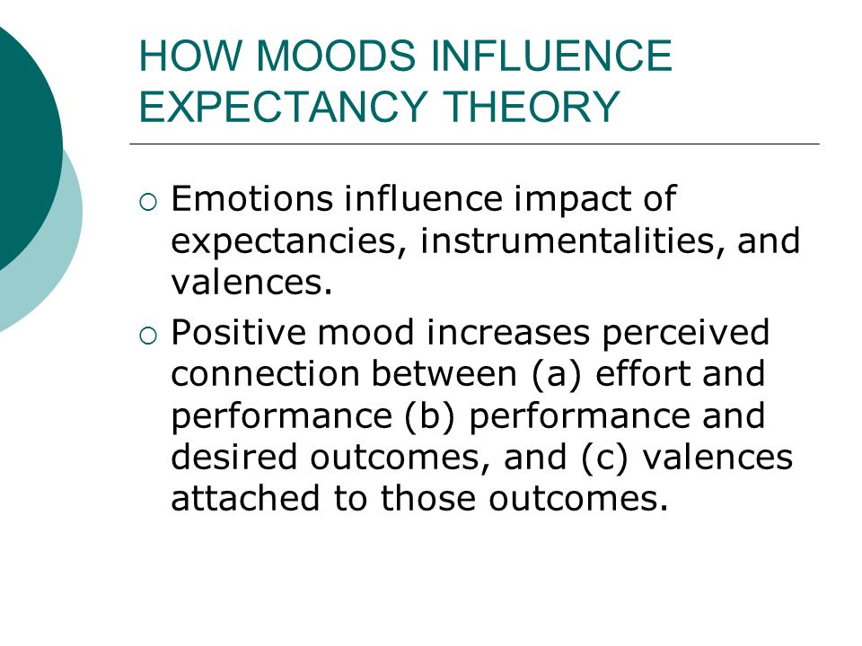 HOW MOODS INFLUENCE EXPECTANCY THEORY