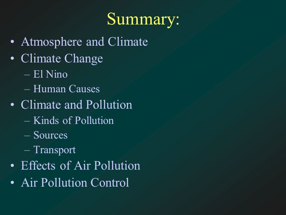 air pollution summary 22 The amount of the smog allowance should vary according to the city's air quality – compensating workers and their families for living in a polluted environment while incentivising municipalities to clean up their acts.