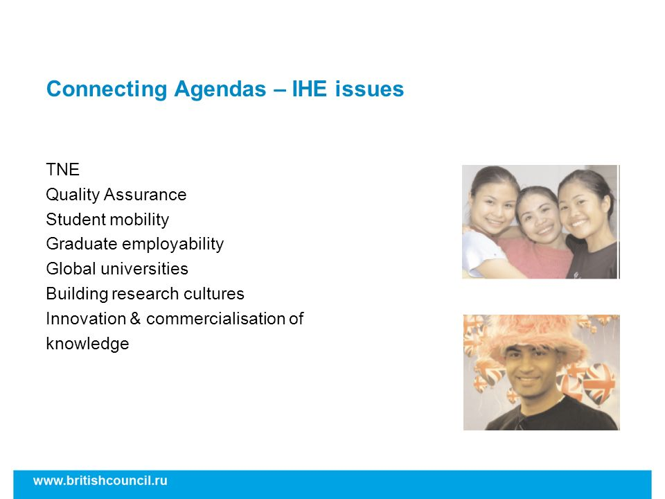 Connecting Agendas – IHE issues