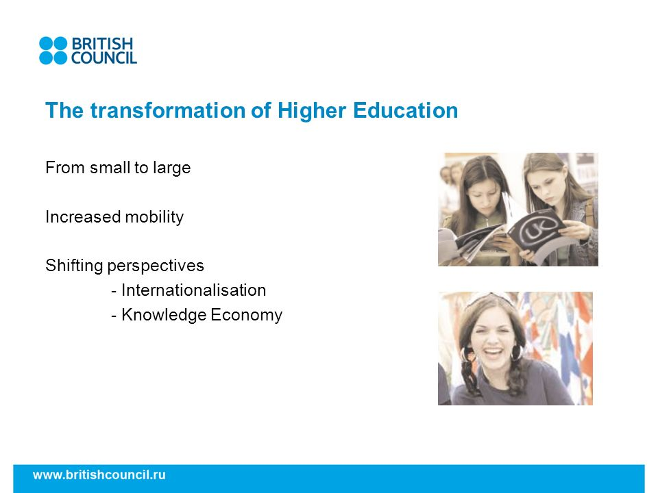 The transformation of Higher Education