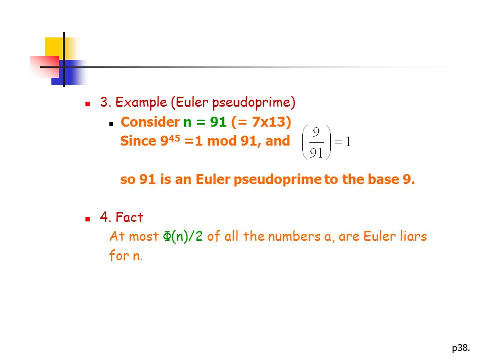 3. Example (Euler pseudoprime)