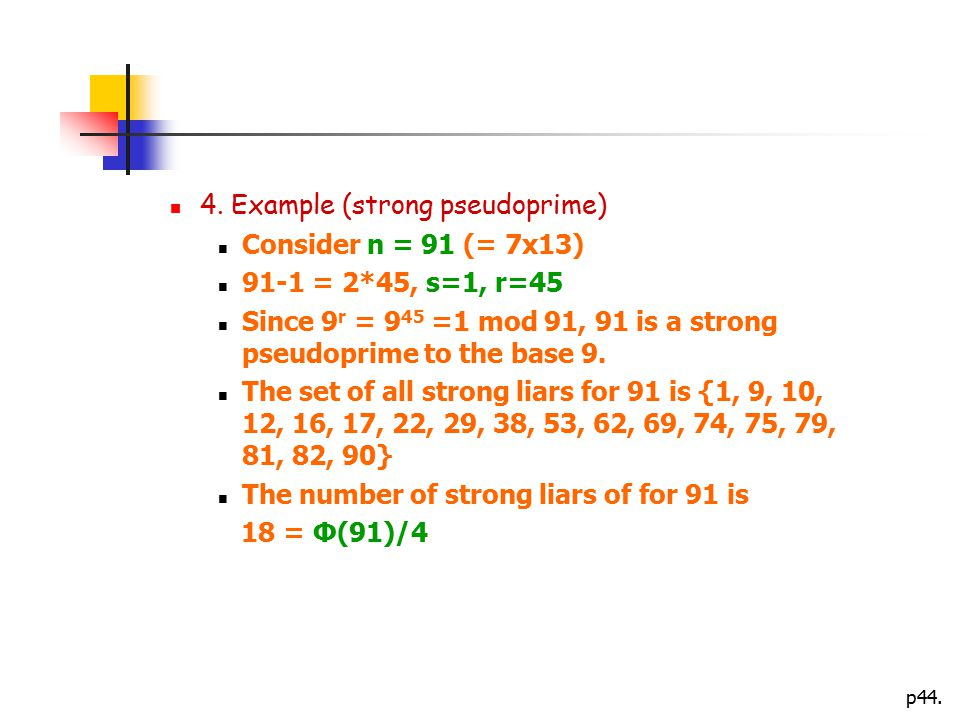 4. Example (strong pseudoprime)
