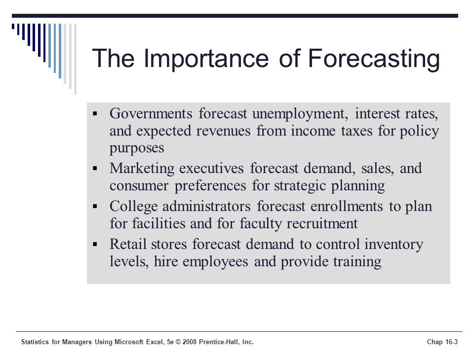 What Is the Relative Importance of Forecasting?