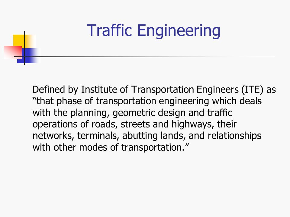 Ce 4640 transportation design ppt video online download for Transportation engineering planning and design