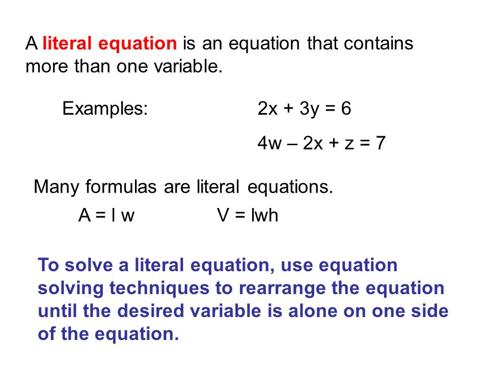 how to solve literal equations with fractions