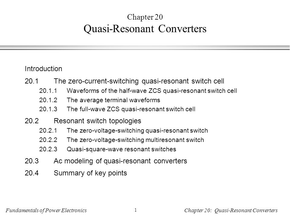Chapter 20 Quasi-Resonant Converters