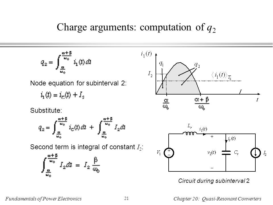 Charge arguments: computation of q2