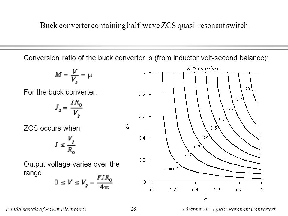 Buck converter containing half-wave ZCS quasi-resonant switch