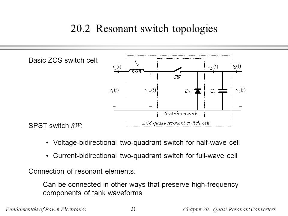 20.2 Resonant switch topologies