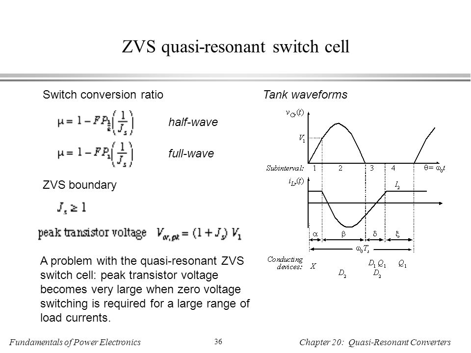 ZVS quasi-resonant switch cell