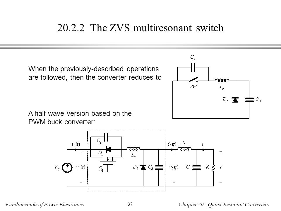The ZVS multiresonant switch