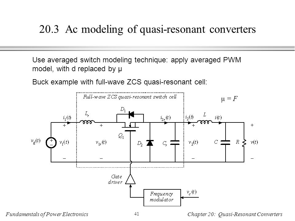20.3 Ac modeling of quasi-resonant converters