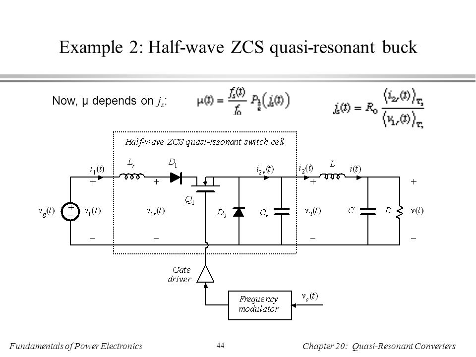 Example 2: Half-wave ZCS quasi-resonant buck