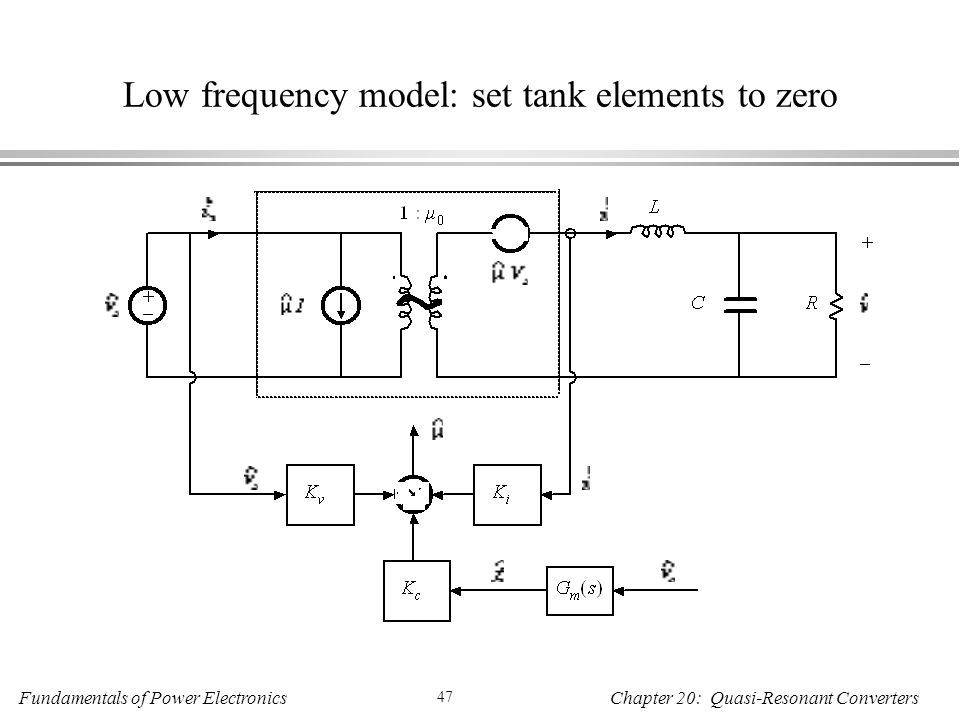 Low frequency model: set tank elements to zero