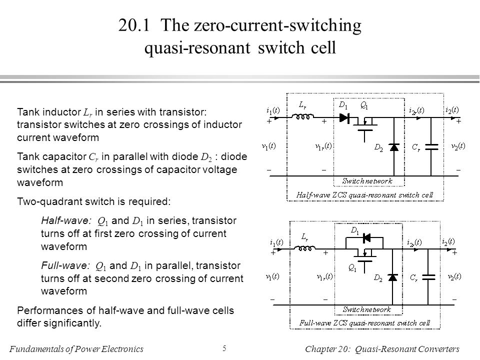 20.1 The zero-current-switching quasi-resonant switch cell