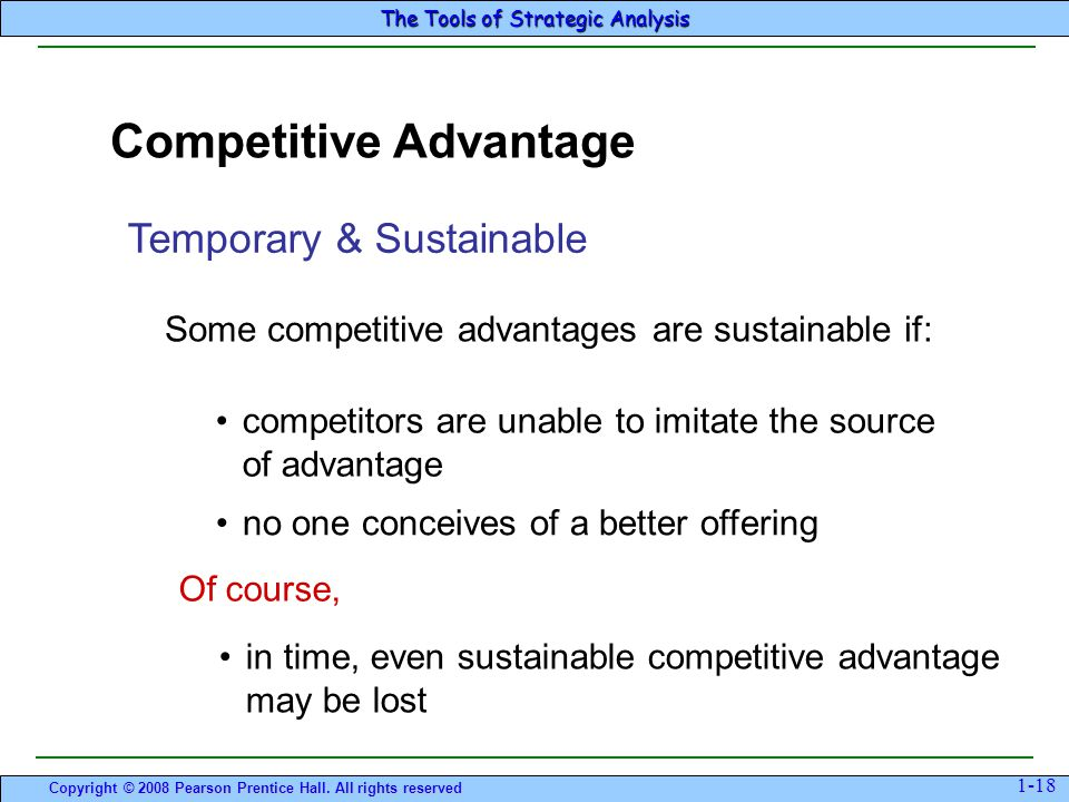 how to write competitive advantage