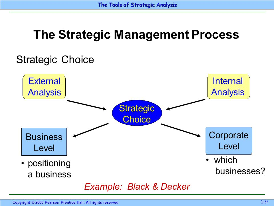 STRATEGIC CHOICES UNDER DIFFERENT BUSINES CONTEXTS
