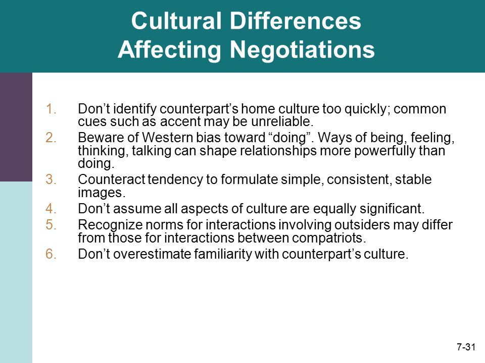 the different cultural views of international negotiation In my experience observing and participating in scores of international negotiations look different in different cultures view the negotiation.