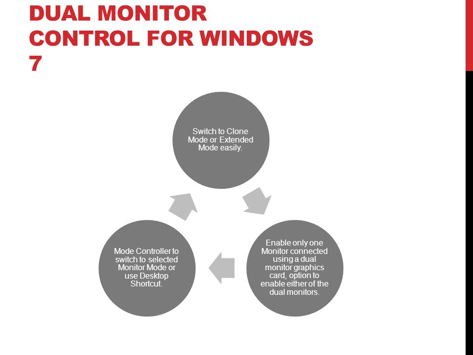 Dual Monitor Control for Windows 7