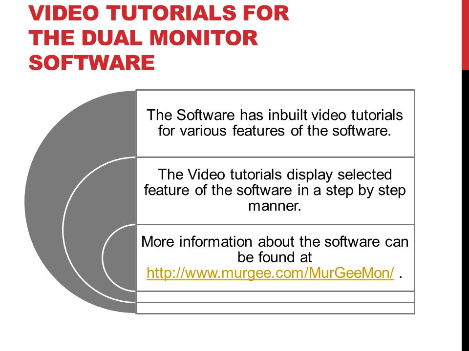 Video Tutorials for the Dual Monitor Software