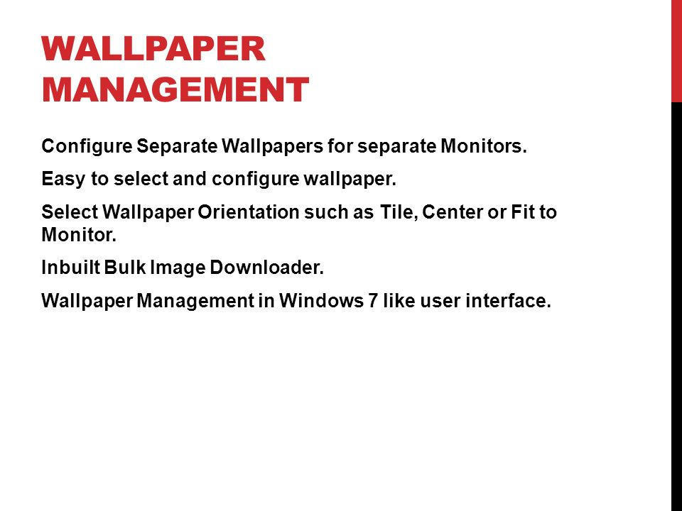 Wallpaper Management