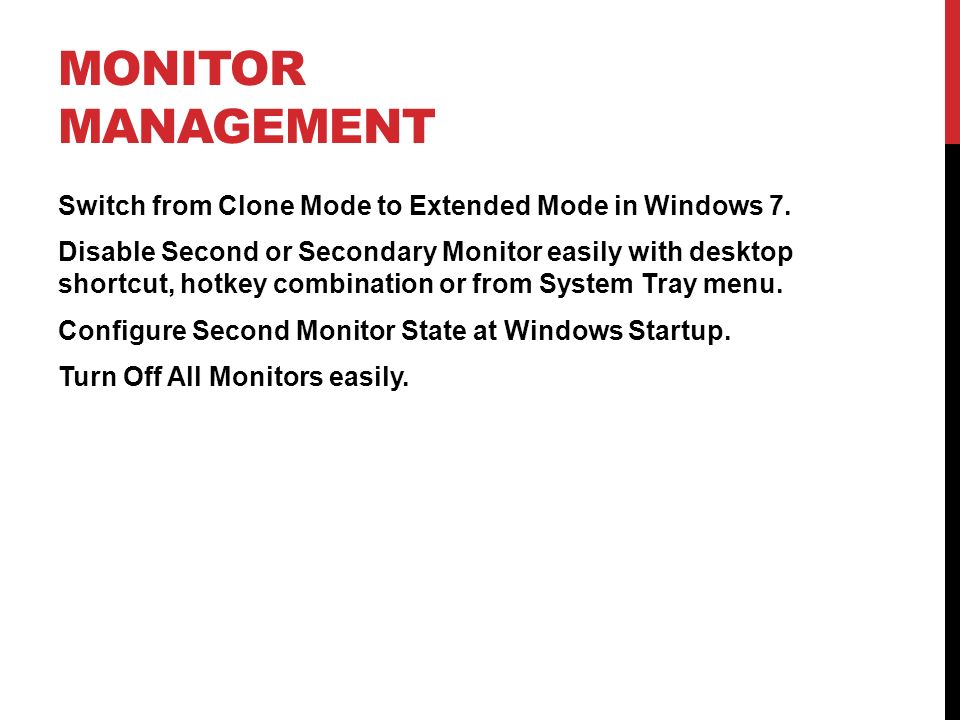 Monitor Management