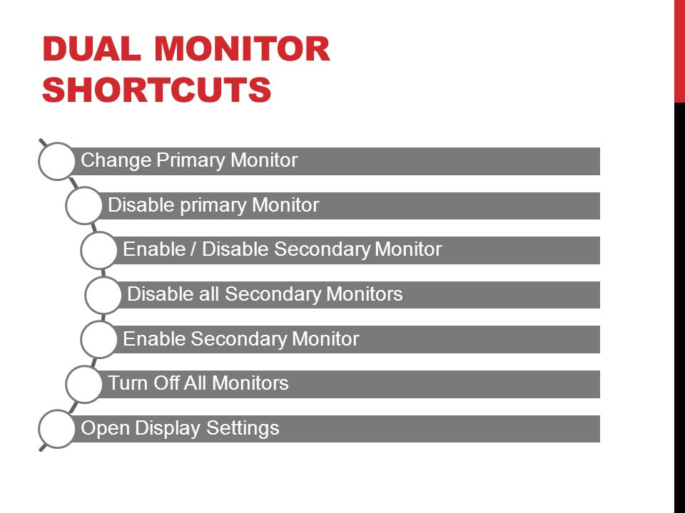 Dual Monitor Shortcuts
