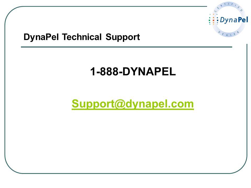 1-888-DYNAPEL Support@dynapel.com