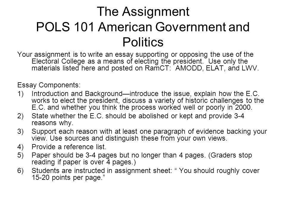 political science advanced gta training ppt  the assignment pols 101 american government and politics