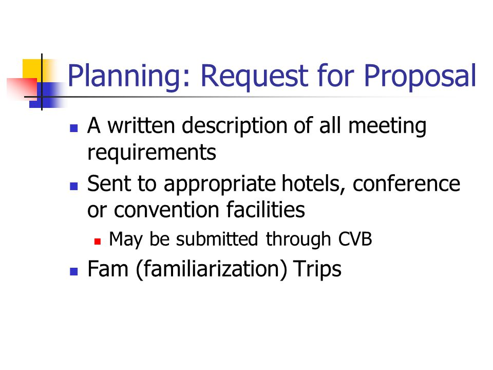 Planning: Request for Proposal