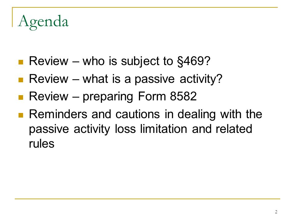 Irc 469 Passive Activities Part 5 Last One Ppt Video Online