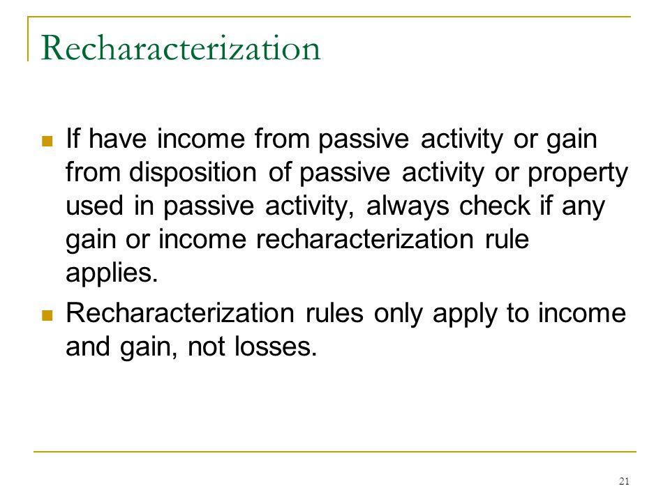Recharacterization