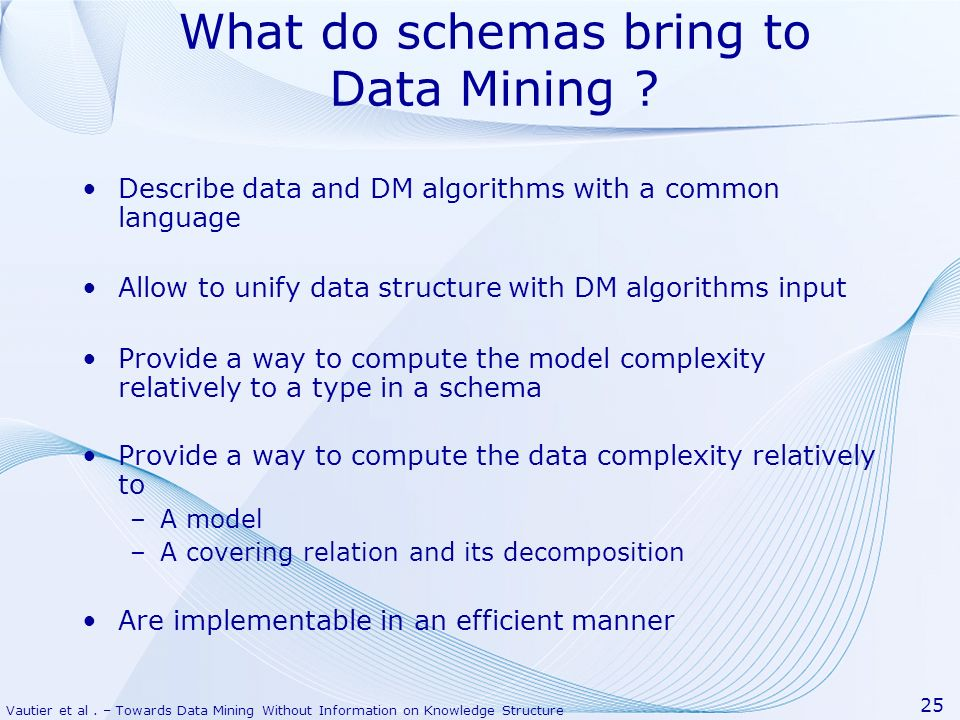 What do schemas bring to Data Mining