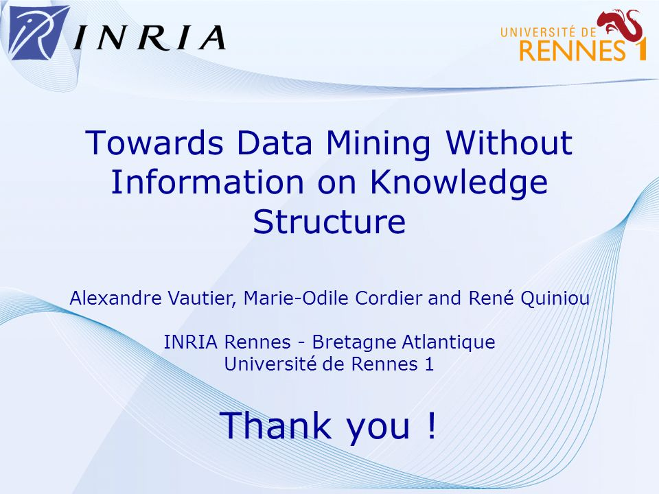 Towards Data Mining Without Information on Knowledge Structure