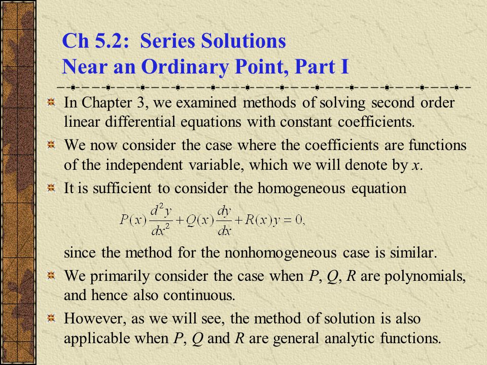 systems of odes first order linear equations A differential equation is a mathematical equation for an unknown function of one  or several  a first-order homogeneous matrix ordinary differential equation in  two functions x(t) and y(t), when taken out of matrix form, has the following form:   to solve this particular ordinary differential equation system, at some point of the .