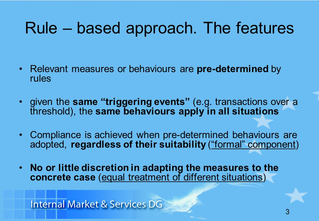 Rule – based approach. The features