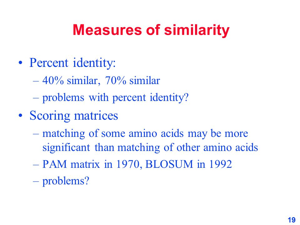 Measures of similarity