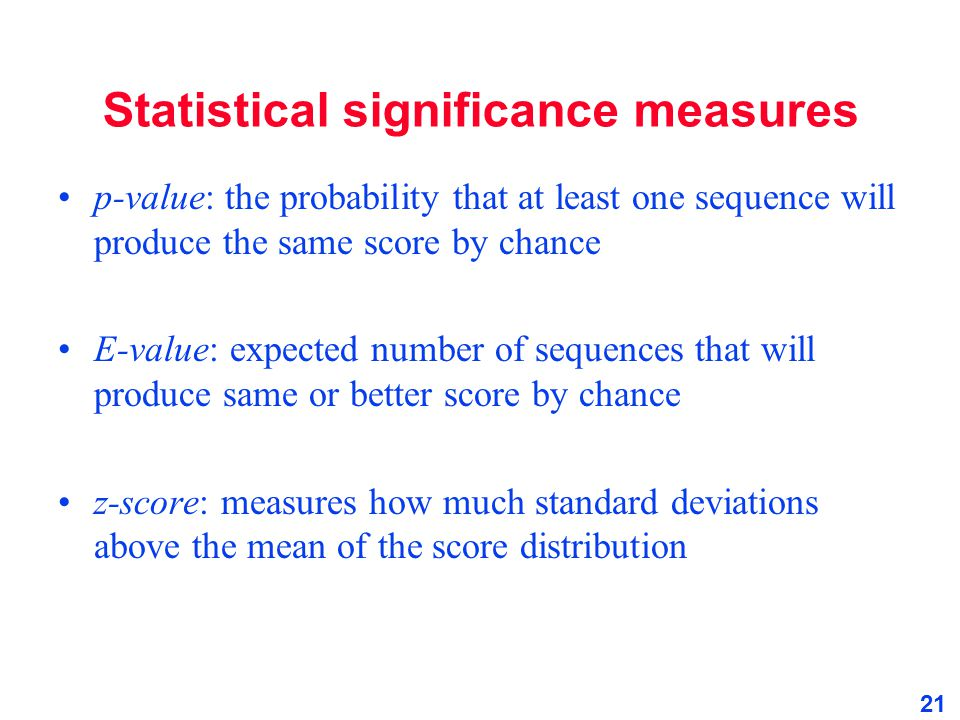 Statistical significance measures