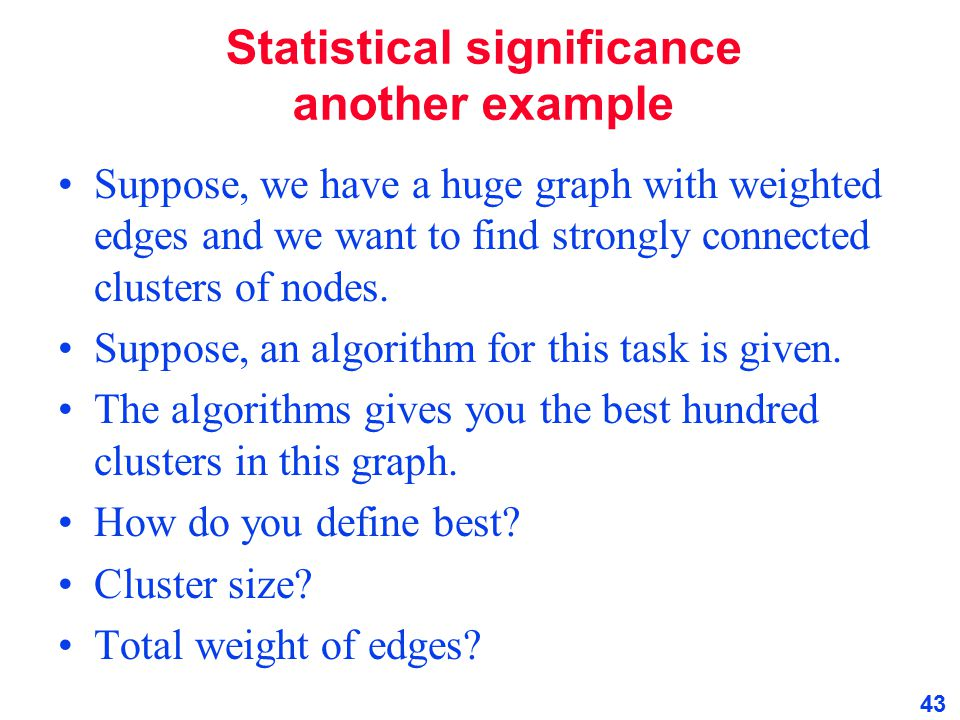 Statistical significance another example