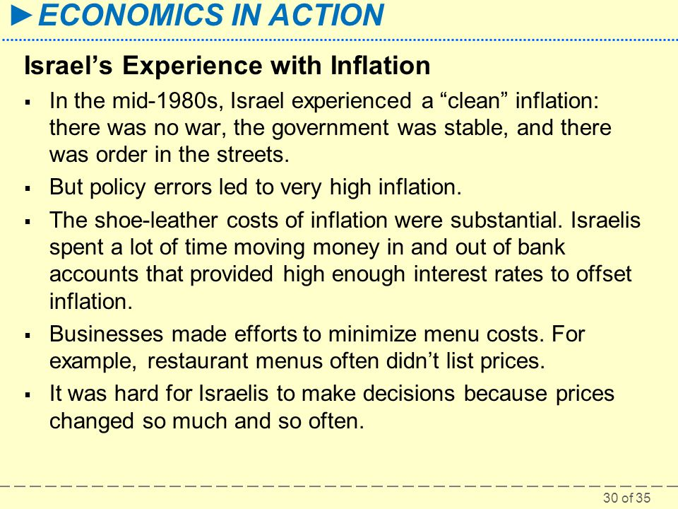 Israel's Experience with Inflation