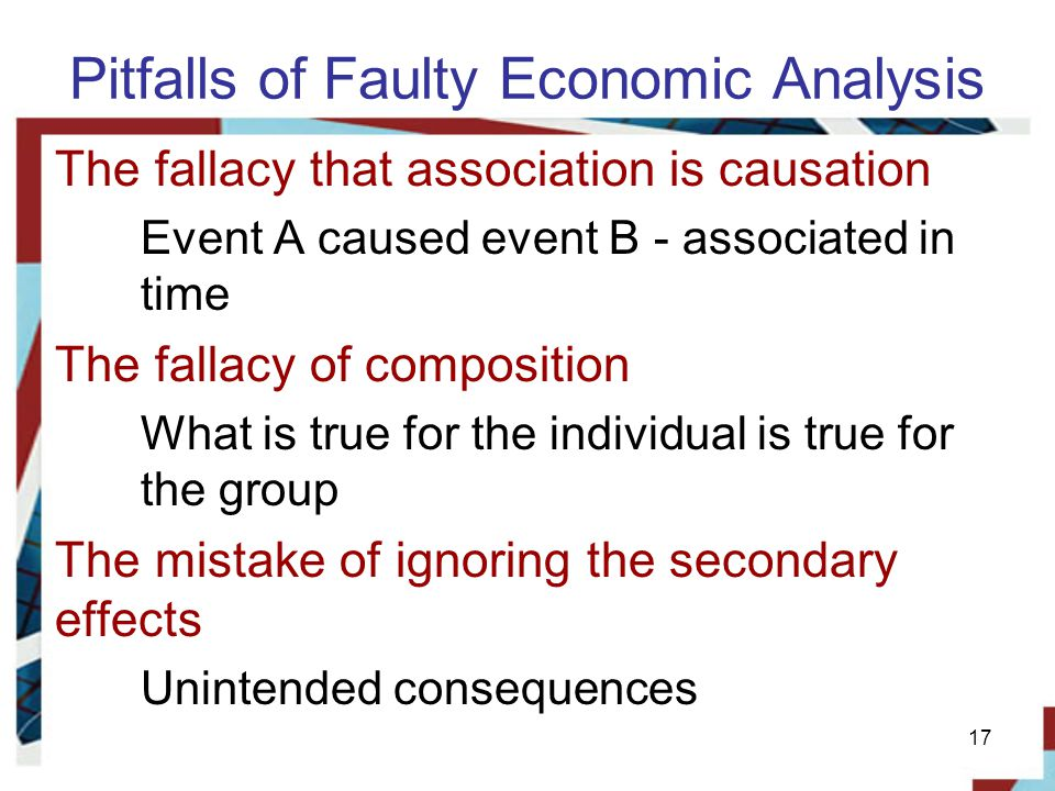 Pitfalls of Faulty Economic Analysis