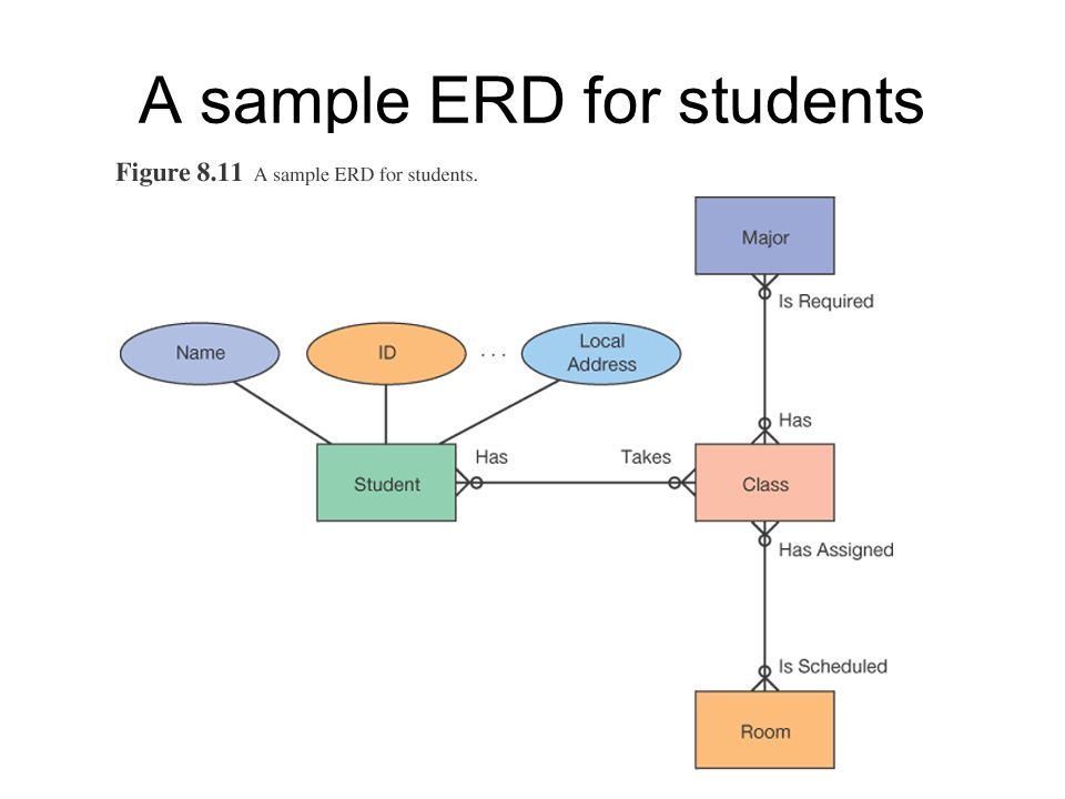 A sample ERD for students