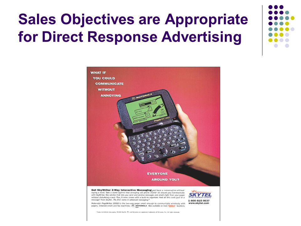 direct marketing objectives essay Discover the benefits of direct marketing advertising strategies steps and  examples of how to successfully implement a simple and effective direct  marketing.